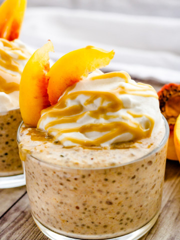 Maple Peach Overnight Oats | PiperCooks