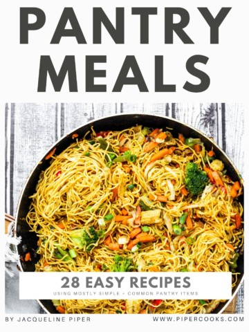 How to make great pantry meals: A Pantry Recipes Ebook