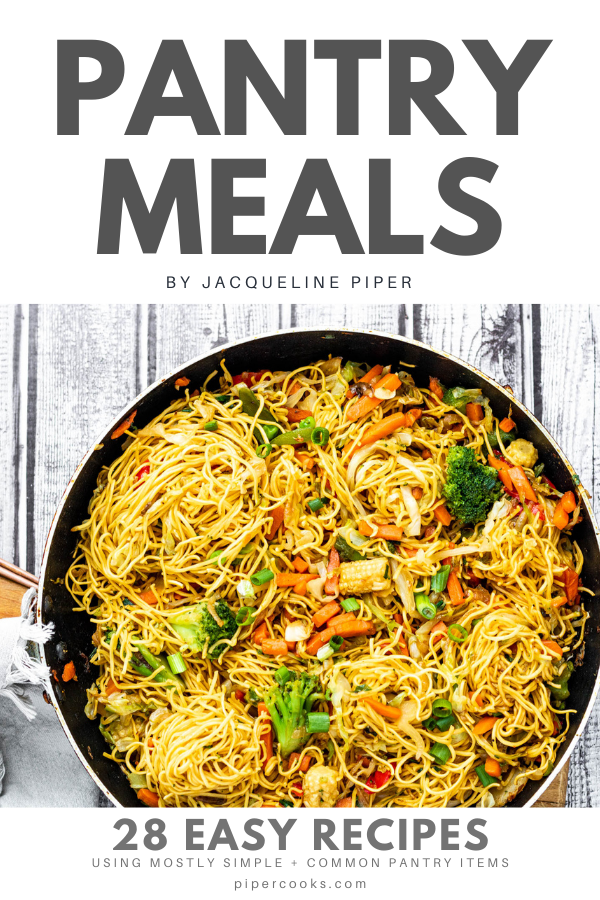 Pantry Meals eBook Cover
